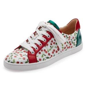 New Christian Louboutin Seava Cherry Sneakers 37.5
